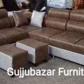 Puffy corner sofa in Heavy kapad